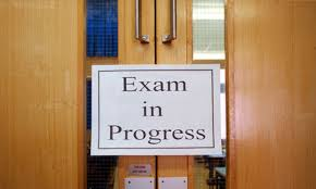 exam in progress